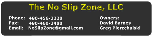 no slip zone - contact us